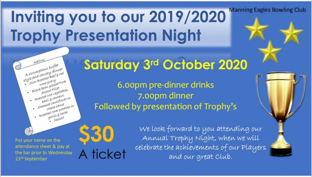 Club Trophy Night